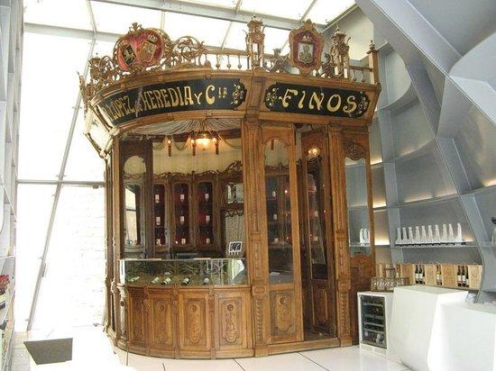 Bodegas Lopez de Heredia Vina Tondonia: Bar from world exhibition
