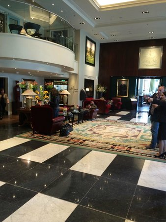 Sofitel London St James: lobby from reception's side
