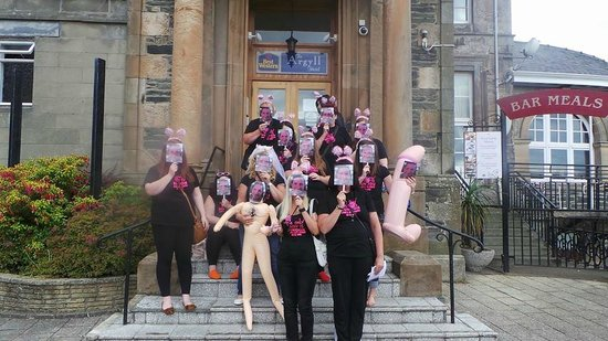 Argyll Hotel: This is what they had to deal with....
