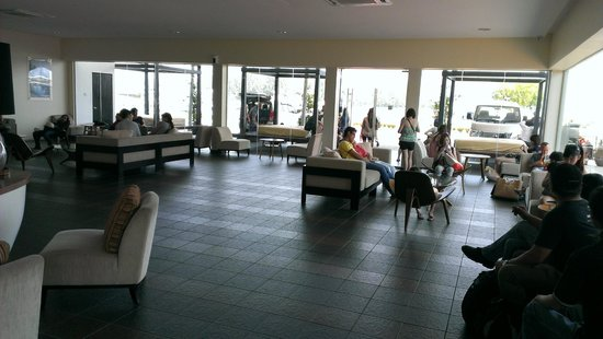Pangkor Laut Resort : Waiting lounge at Marina Island Jetty