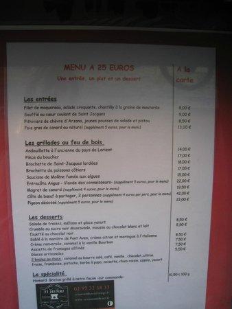Pont-Scorff, Frankrig: Le menu