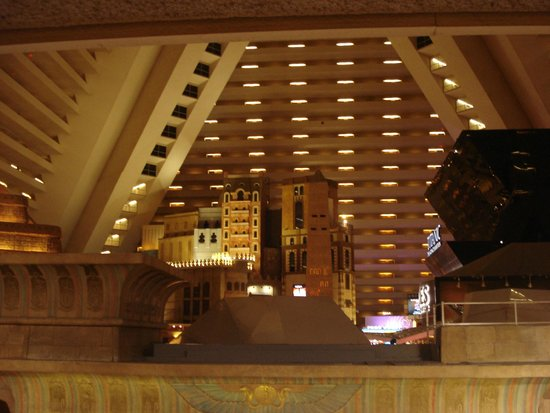 Luxor Hotel & Casino: View from room of hotel interior