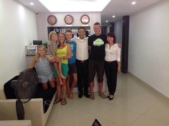 Hanoi Crystal Hotel : family legein and mister Thomas