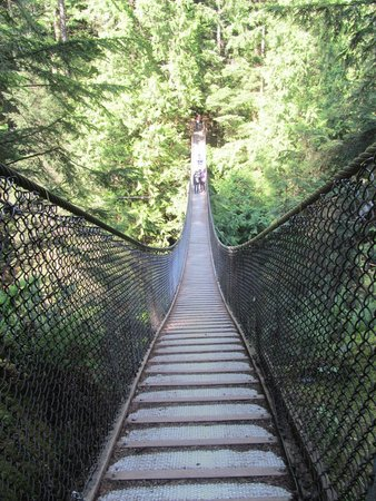 Lynn Canyon Suspension Bridge: View across bridge