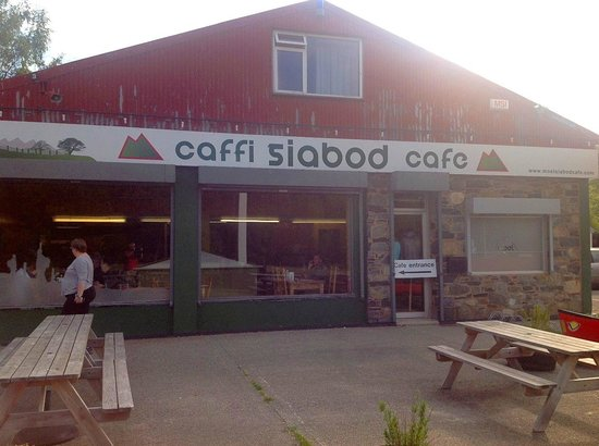 The Moel Siabod Cafe: Outdoor seating