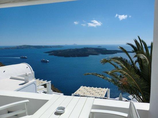 Agali Houses : Blick vom Balkon