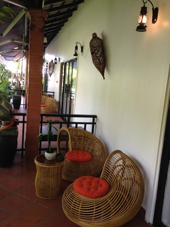 Areca Angkor Boutique : Our lovely little porch