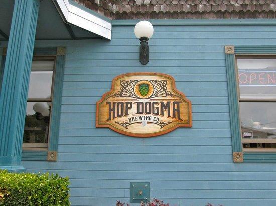 Hop Dogma Brewing Company: Entrance sign