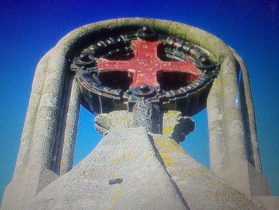 Virgen de la Roca: Vista por atrás.