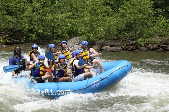 Ducktown, TN: Parrott & Crew enjoying the Ocoee Rafting