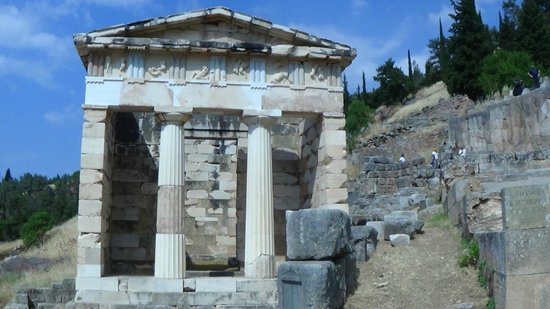 Ruines de Delphes : joli temple