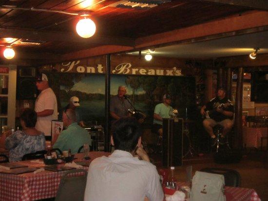 Pont Breaux's Cajun Restaurant: groupe cajun