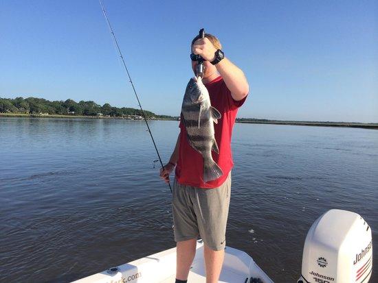 Angler's Mark Fishing Charter : Nice catch