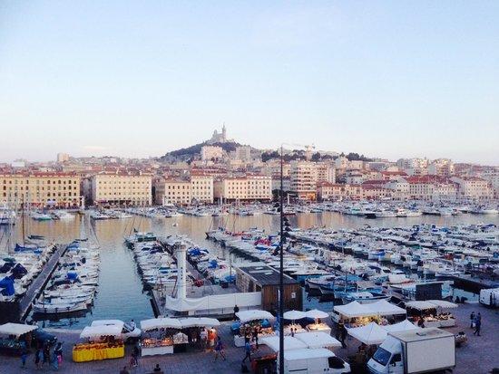 Hôtel La Residence du Vieux Port : Au coucher du soleil