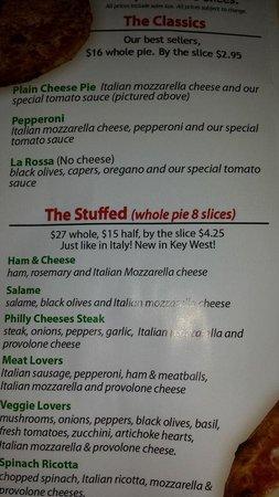 Duetto Pizza and Gelato: menu