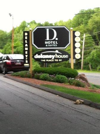 D. Hotel & Suites: front gate