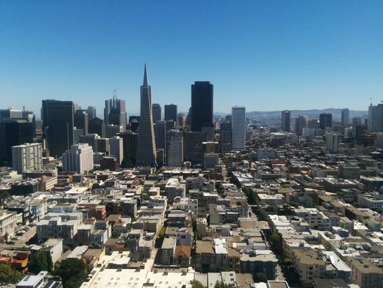 Coit Tower : Looking toward downtown San Francisco