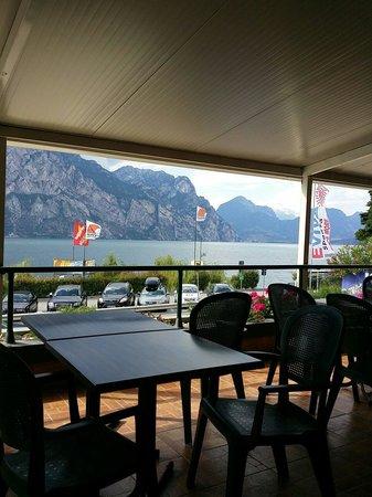 Hotel Sole Malcesine: Aussicht aus dem Restaurant