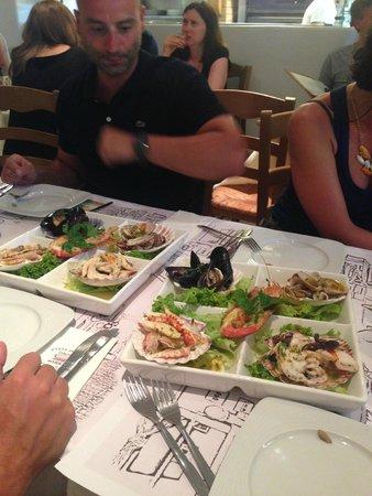 Pasta Fresca Barkia : Antipasto misto di pesce