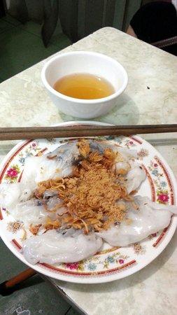 Hanoi Street Food Tour: Pork and mushroom in rice flour pancake (I think) :)
