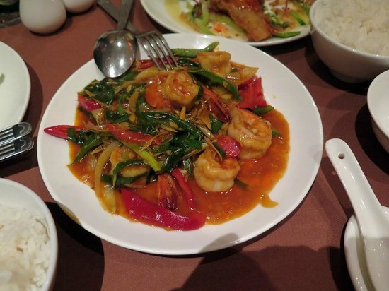 Melia Hanoi: Spicy prawns