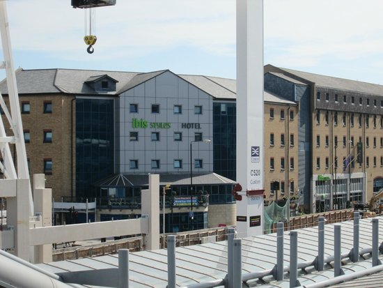 Ibis Styles London Excel: View of Hotel From Custom House DLR station