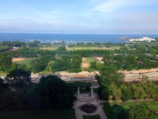 Hilton Chicago: Vista do quarto