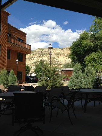 Rough Riders Hotel: View from the patio.