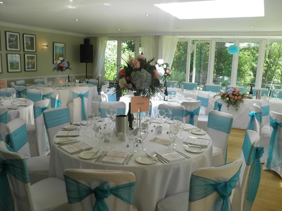 The Westwood Hotel: wedding dining area