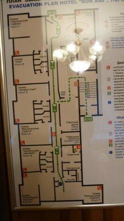 Hotel Bon Ami: План отеля