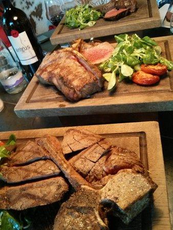 Kyloe Restaurant at Rutland Hotel: Great main dish of meat!!
