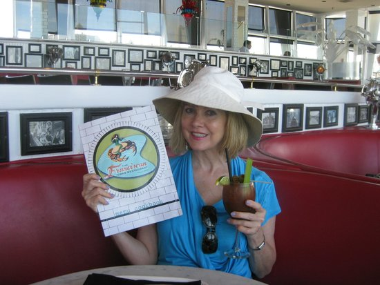 """Franciscan Crab Restaurant : The Franciscan had me at """"hello!""""---and a delicious """"Mermaid Mary""""."""