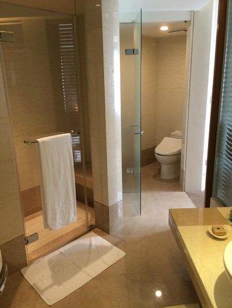 Hotel Royal-Nikko Taipei: トイレは二カ所、バスタブとシャワールームも別で快適です。