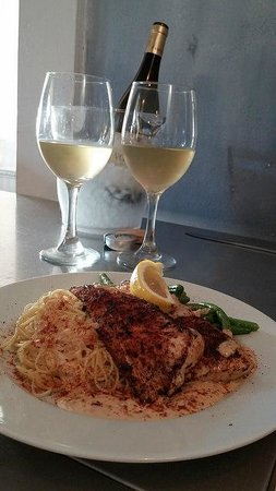 Catch 27: Blackened Mahi Mahi with angel hair plasta