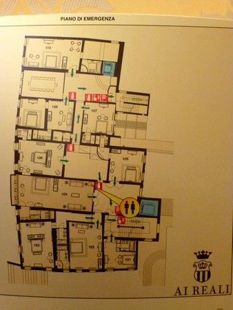 Hotel Ai Reali di Venezia: First floor plan