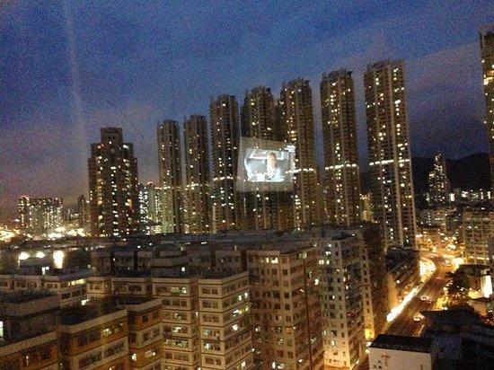 Dorsett Mongkok Hong Kong: View from bedroom at night