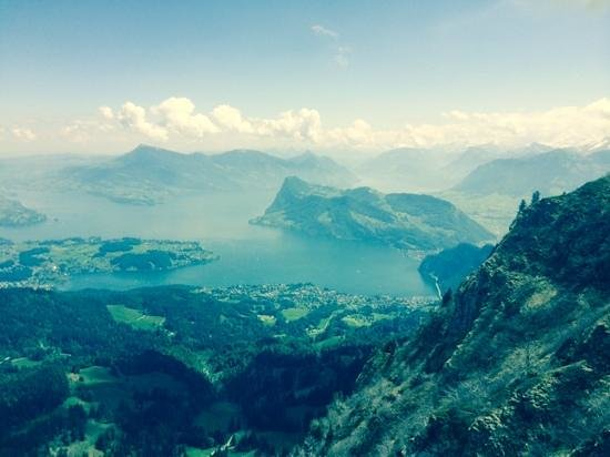 Seehotel Hermitage Luzern: on top of Pilatus