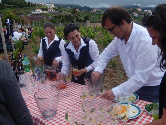 Quinta Do Furao Hotel: Apéro du mercredi soir au jardin
