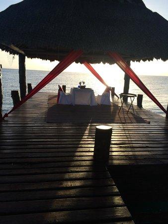 Secrets Aura Cozumel: dinner on dock