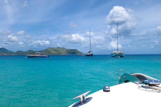 Captain Alan's Three Island Snorkeling Adventure: View from Tintamarre Island
