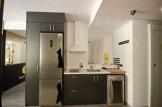 Free Hostels: Cocina