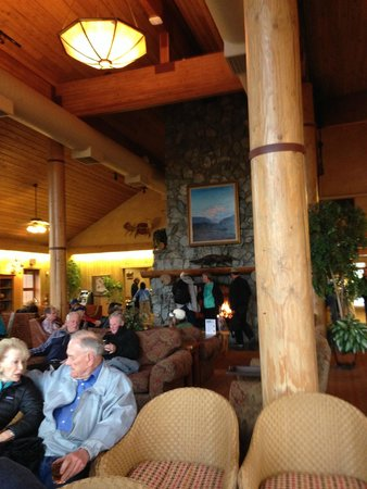 Mt. McKinley Princess Wilderness Lodge : Lodge sitting area - nice fireplace!