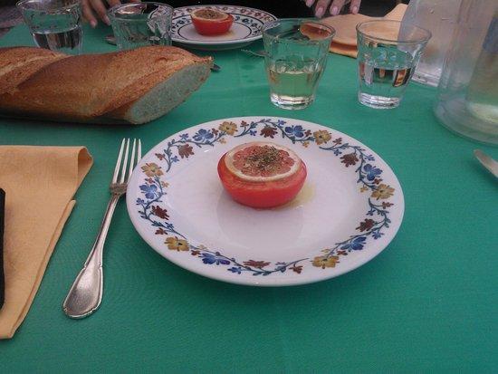 Locanda dell'Isola Comacina: Tomate Zitrone