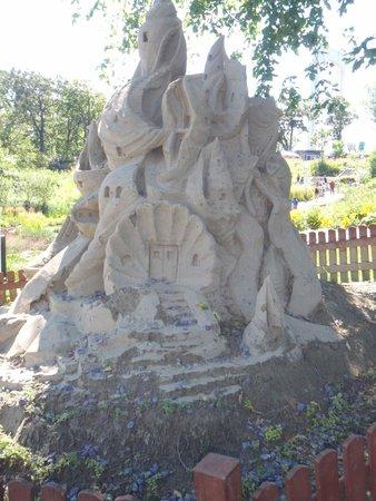 Aquarium du Quebec : sculture de sable