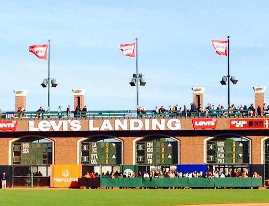 AT&T Park : The landing leading out to McCovey Cove