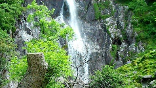 close up of aber falls