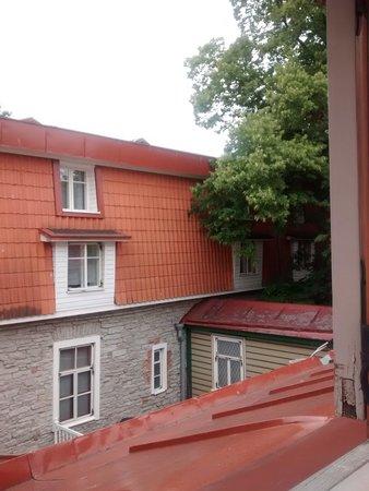 St Olav Hotel: Näkymä kolmannen kerroksen huoneesta.