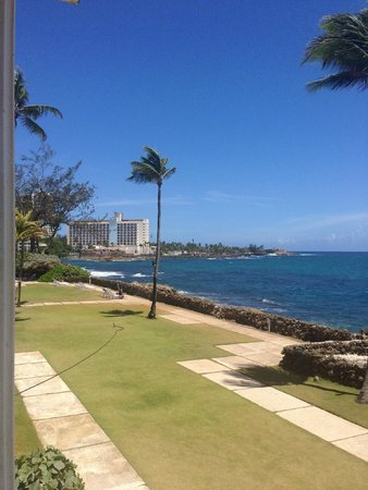 The Condado Plaza Hilton: View of downtown from pool