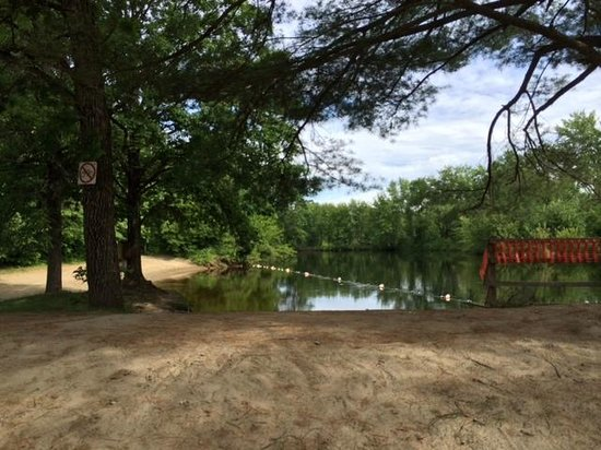 Lake George Escape Campground: View at the beach