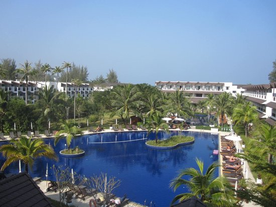 Sunprime Kamala Beach: La vue de ma chambre dans le bloc de la réception